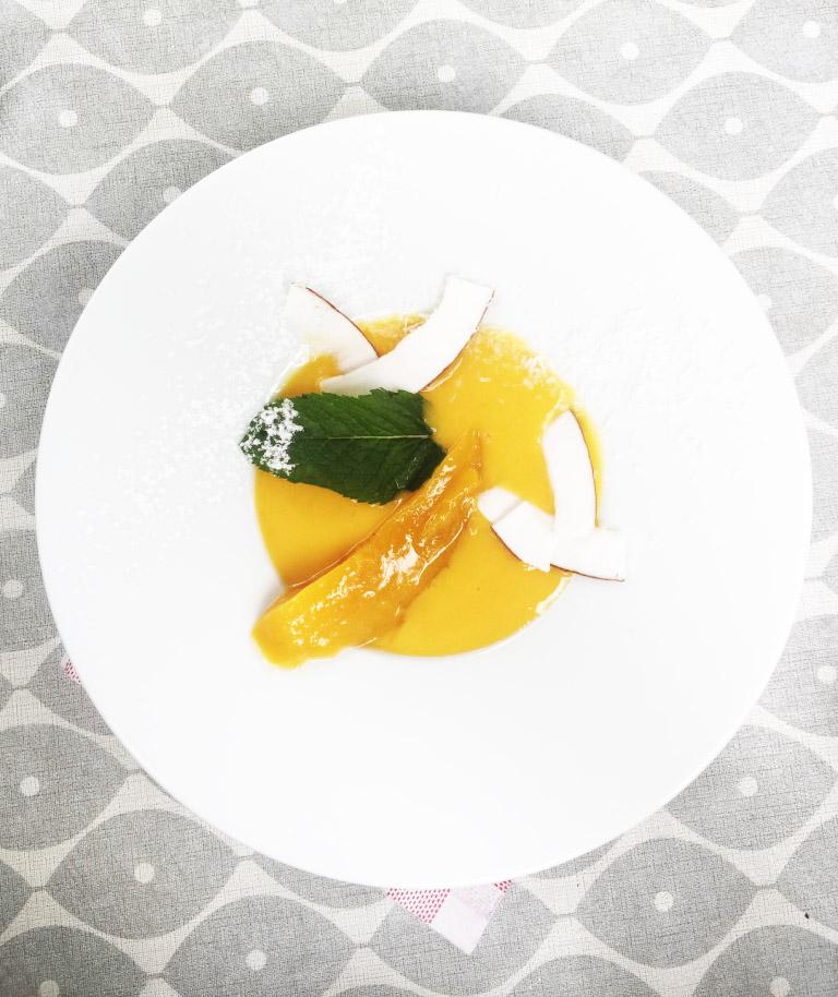 soupe de mangue et coco